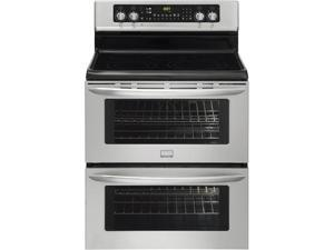 "30"" standing Electric Double Oven Range with 5 Radiant Elements, SpaceWise Expandable Elements, 7.0 cu. ft. Double Symmetry ..."