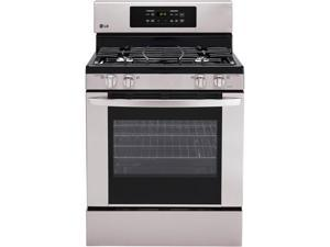 "30"" standing Gas Range with 5.4 cu. ft. Capacity, 4 Sealed Burners, 17,000 BTU SuperBoil Burner,IntuiTouch Controls, WideView ..."