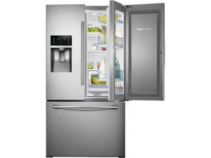 27.8 cu. ft. French Door Refrigerator with 5 Spillproof Glass Shelves, Food ShowCase Fridge Door, Metal Cooling, External ...