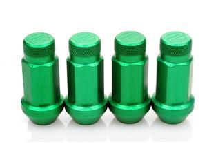 Password:JDM Aluminum Lug Nuts Green (20 Pack Extended Close End) 12 x 1.5