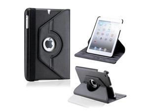 Black 360 Degree Rotating PU Leather Case Cover with Swivel Stand for iPad Mini and iPad Mini with Retina Display
