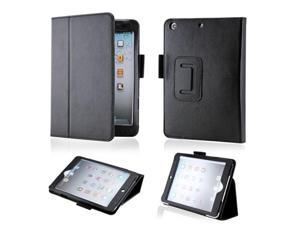 Black Magnetic PU Leather Folio Stand Case Cover with Stylus Holder for iPad Mini and iPad Mini with Retina Display