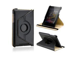 Black 360 Degree Rotating PU Leather Case Cover Swivel Stand for Google Nexus 7 Asus Tablet