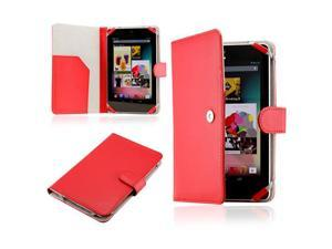 Red PU Leather Magnetic Case Cover for New Google Nexus 7 Asus Tablet