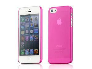 New Hot Pink Matte Clear 0.4mm Ultra Thin Bendable Snap-on Air Case Back Cover for iPhone 5 5S