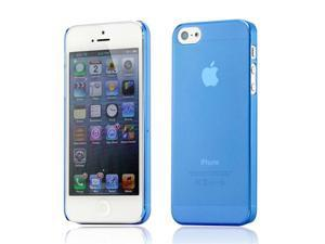 New Blue Matte Clear 0.4mm Ultra Thin Bendable Snap-on Air Case Back Cover for iPhone 5 5S