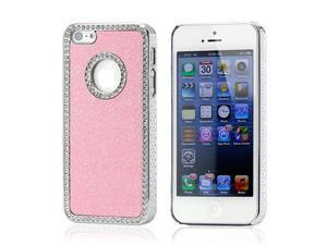 Pink Luxury Bling Glitter Chrome Crystal Rhinestones Hard Back Case for iPhone 5 5S