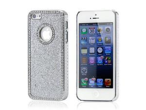 Silver Luxury Bling Glitter Chrome Crystal Rhinestones Hard Back Case for iPhone 5 5S