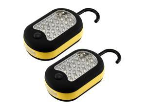 2 x Portable Super Bright 27 LED Magnetic Hanging Hook Flashlight / Worklight