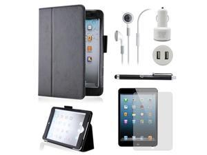5 in 1 Accessories Bundle Black Case Travel Business Combo for iPad Mini