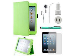 5 in 1 Accessories Bundle Green Case Travel Business Combo for iPad Mini and iPad Mini with Retina Display.
