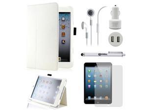 5 in 1 Accessories Bundle White Case Travel Business Combo for iPad Mini and iPad Mini with Retina Display