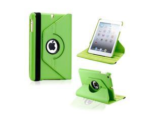 Green 360 Degree Rotating PU Leather Case Smart Cover Swivel Stand for iPad Mini and 2013 iPad Mini with Retina Display - OEM