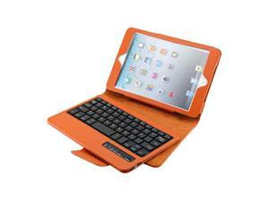 iPad Mini PU Leather Case Stand with Removable Bluetooth Keyboard (Brown)