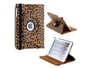 Brown Leopard Pattern 360 Degree Rotating PU Leather Case Smart Cover Swivel Stand for iPad Mini and 2013 iPad Mini with ...