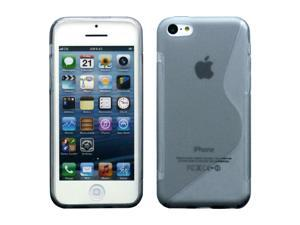 Black S Shape 2 Tone Soft TPU Gel Case Back Cover Skin compatible with Apple® iPhone® 5C