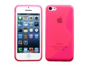 Hot Pink S Shape 2 Tone Soft TPU Gel Case Back Cover Skin compatible with Apple® iPhone® 5C