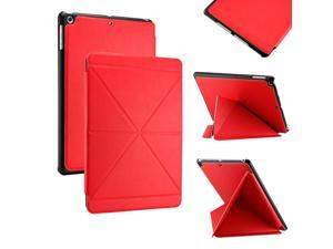 Gearonic ™ Slim PU Leather Smart Magnetic Shell Case Cover with Multi Folding Triangle Stand for Apple iPad Air 5th 5G - ...