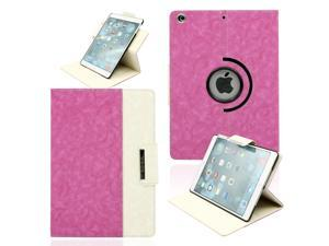 Gearonic ™ 360 Degree Rotating Microfiber and PC Case Smart Cover with Swivel Stand for Apple iPad Air - Hot Pink