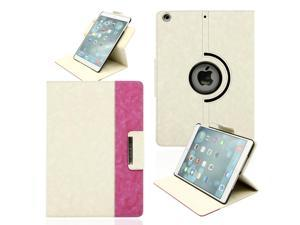 Gearonic ™ 360 Degree Rotating Microfiber and PC Case Smart Cover with Swivel Stand for Apple iPad Air - White