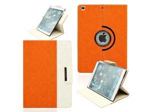 Gearonic ™ 360 Degree Rotating Microfiber and PC Case Smart Cover with Swivel Stand for Apple iPad Air - Orange