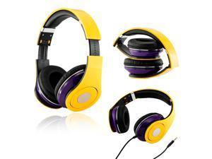 Gearonic ™ LAL Adjustable Circumaural Over-Ear Earphone Stero Headphone 3.5mm for iPod MP3 MP4 PC iPhone Music - Purple and ...