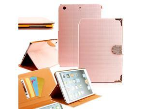 GEARONIC ™ Bling Case Folio Leather Smart Magnetic Cover Stand Clip and Credit Card Slots for Apple iPad Mini 2 with Retina ...