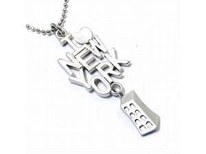 Silvertone I LOVE NEW YORK Pendant Necklace Fashion Jewelry
