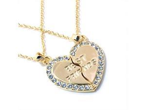 Goldtone Best Friends Heart Necklaces Fashion Jewelry
