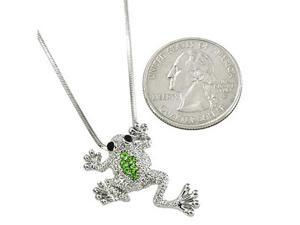 Rhinestone Frog Pendant Necklace Fashion Jewelry