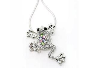 Rhinestone Frog Pendant Necklace Fashion Jewelry