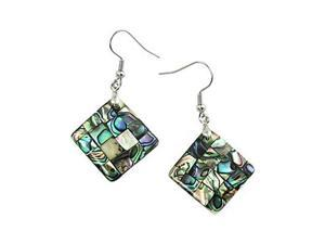 Abalone Square Dangle Earrings Fashion Jewelry