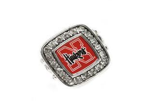 Licensed University of Nebraska Corn Huskers College Team Stretch Fashion Ring