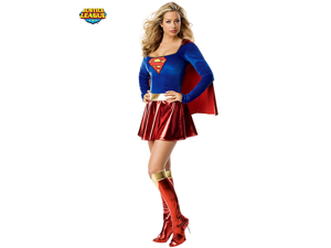Women's Sexy Superman Supergirl Costume