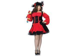 Women's Pirate Wench Plus Vixen Costume