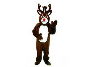 Reindeer with Mascot Head Adult Costume