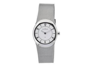 Skagen Men's O564XSSSW1 Quartz Stainless Steel White Dial Watch