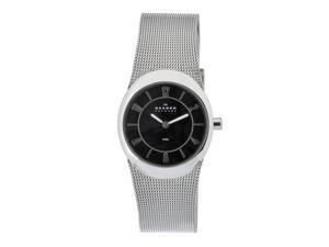 Skagen Women's O564XSSSB Quartz Stainless Steel Black Dial Watch
