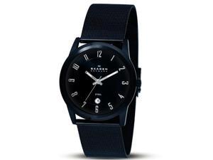 Skagen Men's 124XLBBB Quartz Stainless Steel Black Dial Watch