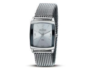 Skagen Women's 691SSS1 Quartz Silver Dial Color Stainless Steel Watch