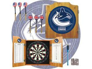 NHL Vancouver Canucks Dart Cabinet includes Darts and Board