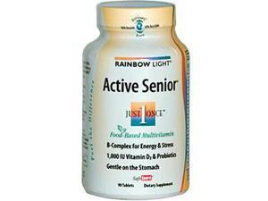 Rainbow Light, Just Once, Active Senior, Food-Based Multivitamin, 90 Tablets
