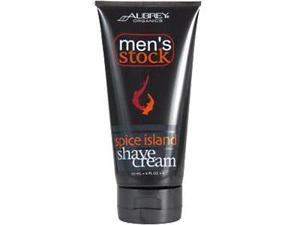 Aubrey Organics, Men's Stock, Spice Island Shave Cream, 6 fl oz (177 ml)