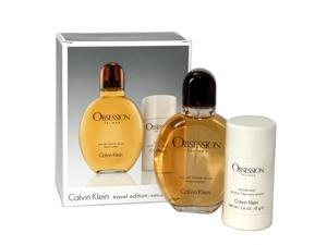 Obsession Cologne - Gift Set for Men - EDT Spray 4.0 Oz + Deodorant Stick 2.6 Oz