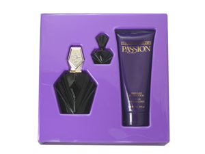 Passion Gift Set ( Eau De Toilette Spray 2.5 oz + Body Lotion 6.7 oz + Parfum Miniature )