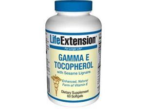 Gamma E Tocopherol with Sesame Lignans,60 softgels