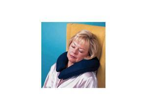 Buckwheat Crescent Pillow With Navy Polar Fleece, One size fits all, 6/case, Sold in case