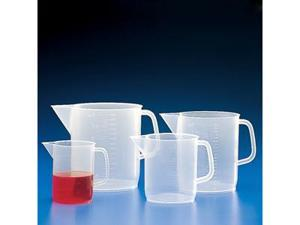 Beaker with Handle, PP, Molded Graduations, 3000mL