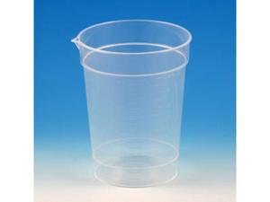 Specimen Container, 6.5oz, Paper Lid Included in Each Pack, Pour Spout, PP, Graduated, 25/Pack, 20 Packs/Unit