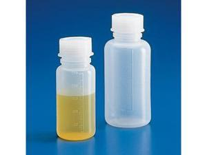 Bottle with Screwcap, Wide Mouth, LDPE, Graduated, 250mL